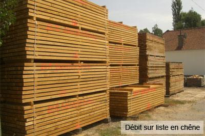 scierie Nord Pas-de-Calais : débit sur liste en chêne