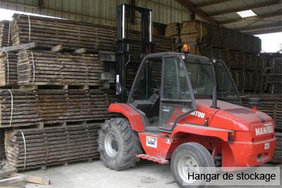 scierie Nord Pas-de-Calais : hangar de stockage
